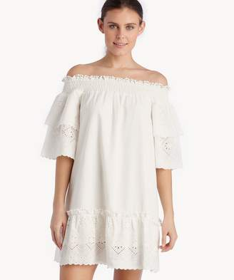 Sole Society Off The Shoulder Eyelet Lace Dress