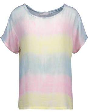 Kain Label Carine Frayed Tie-Dyed Gauze Top