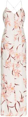 Zimmermann corsage orchid print maxi dress