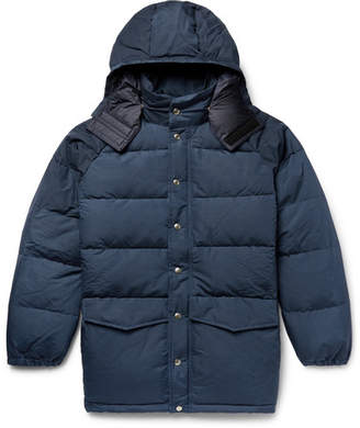Battenwear Quilted Cotton-Blend Canvas Hooded Down Jacket