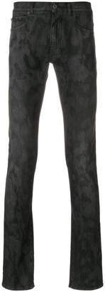 Versace camouflage effect jeans