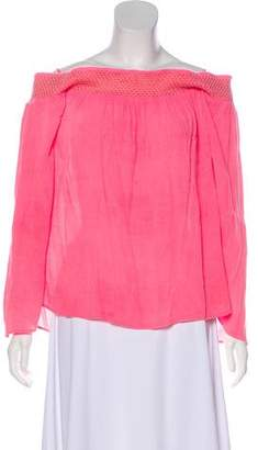 Lilly Pulitzer Off-The-Shoulder Long Sleeve Top