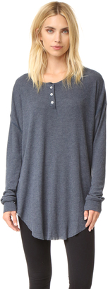 Wildfox Ian Thermal Henley $84 thestylecure.com
