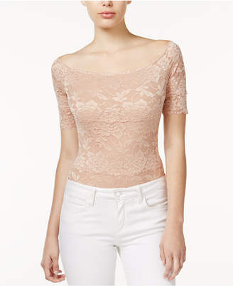 GUESS Dara Off-The-Shoulder Lace Bodysuit