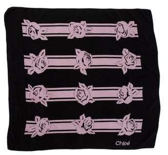 Chloé Printed Chiffon Scarf