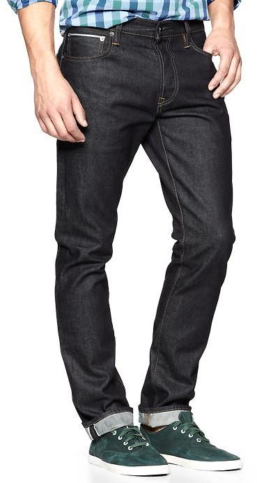 Gap 1969 Selvedge Authentic Skinny Fit Jeans (Resin Rinse)