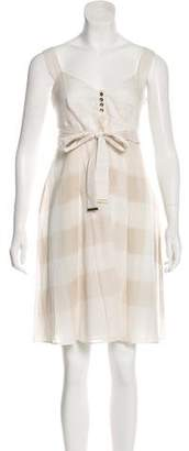 Burberry Belted Exploded Check Dress