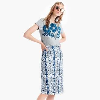 J.Crew X Abigail Borg flower-printed T-shirt