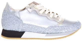 Philippe Model Bright Glitter & Leather Sneakers