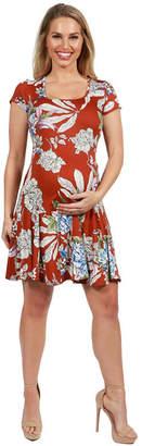 6882eccaf1 ... 24 7 Comfort Apparel 24Seven Comfort Apparel Lani Short Sleeve Maternity  Dress - Plus