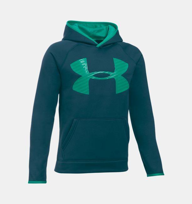 Boys' UA Storm Armour® Fleece Highlight Big Logo Hoodie