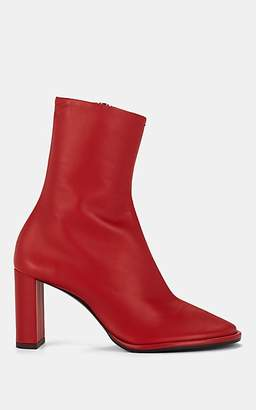 The Row Women's Tea Time Leather Zip Boots - Red