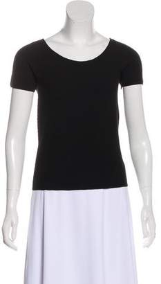 Giorgio Armani Textured Short Sleeve Top