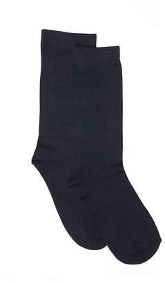 Anne Klein Microfiber Crew Socks - 2 Pack - Women's
