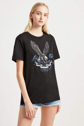 French Connenction Eagle Graphic T-Shirt