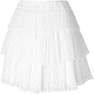 Giamba tiered pleated mini skirt