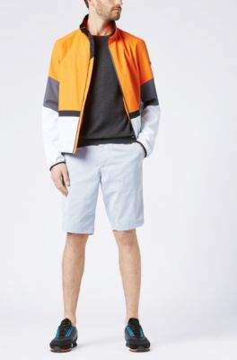 BOSS Hugo Cotton-blend sweater color-blocking XL Charcoal
