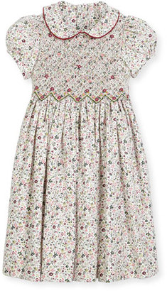 Luli & Me Cap-Sleeve Floral Smocked Dress, Size 2-6X $118 thestylecure.com