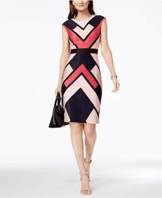 Vince Camuto Geo-Print Sheath Dress