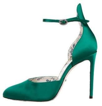 Gucci Satin D'Orsay Pumps