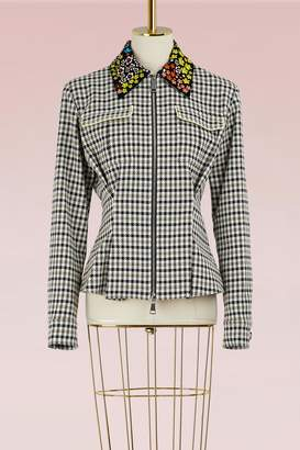 Mary Katrantzou Hooper jacket with embroidered collar