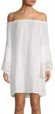 Cotton Off-The-Shoulder Cover-Up