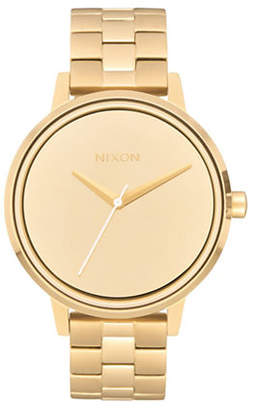 Nixon Kensington Goldtone Analog Watch