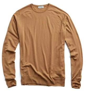 John Smedley Sweaters Easy Fit Crew in Camel