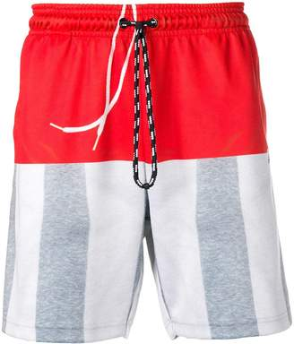adidas by Alexander Wang colour block track shorts