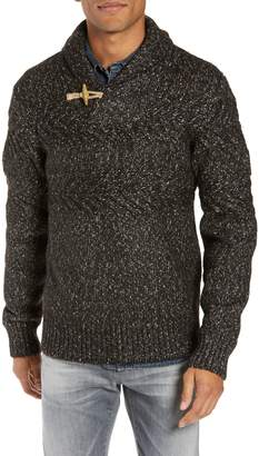 Schott NYC Heathered Shawl Collar Sweater