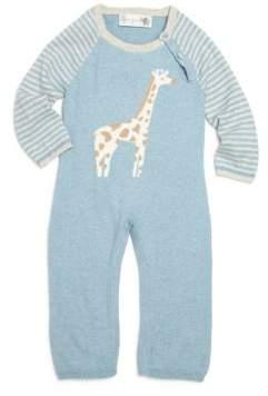 Lucky Jade Baby's Cotton& Cashmere Giraffe Intarsia Coverall