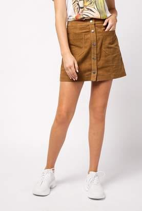 Azalea Button Down Corduroy Skirt