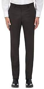 Barneys New York MEN'S HERRINGBONE WOOL CLASSIC TROUSERS-BROWN SIZE 38 R