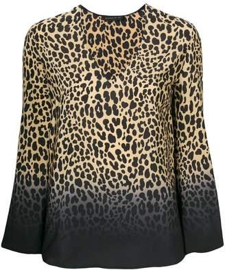 Etro V-neck leopard print blouse