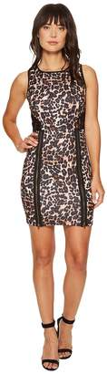Romeo & Juliet Couture Animal Print with Lace Back Dress Women's Dress