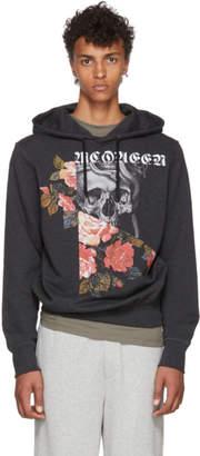 Alexander McQueen Grey Skulls and Roses Hoodie