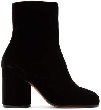 Maison Margiela Black Velvet Tabi Boots