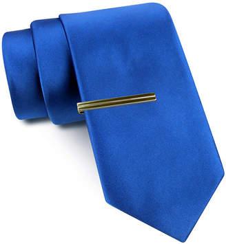 Jf J.Ferrar JF Slim Satin Tie and Tie Bar Set