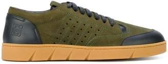 Loewe contrast panel sneakers