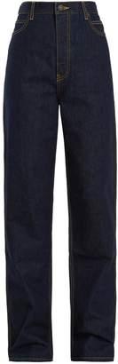 Calvin Klein High-rise straight-leg jeans