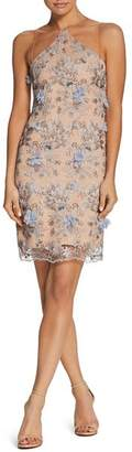 Dress the Population Lena Embellished Illusion Dress
