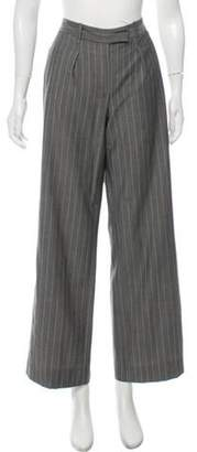 Loro Piana Virgin Wool-Mohair Blend Pinstripe Pants Grey Virgin Wool-Mohair Blend Pinstripe Pants