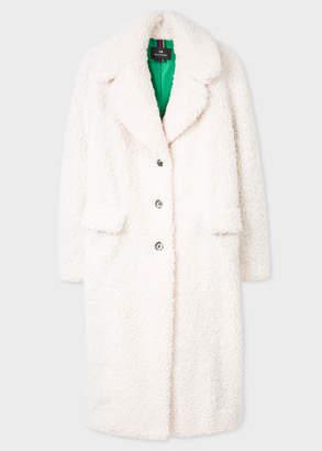 Paul Smith Women's Cream Boucle Cocoon Coat