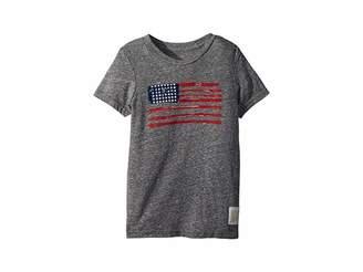 Original Retro Brand The Kids Vintage Tri-Blend American Flag Tee (Little Kids/Big Kids)