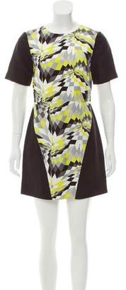 Tibi Geometric Printed Silk & Linen-Blend Dress