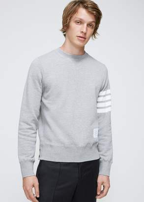 Thom Browne Sweatshirt With Engineered 4-Bar Stripe