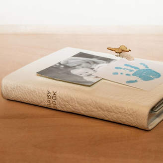 Noble Macmillan Personalised Ivory Leather Baby Book