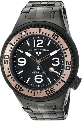 Swiss Legend Men's 'Neptune Force' Quartz Stainless Steel Casual Watch (Model: 21819P-BB-11-RA)
