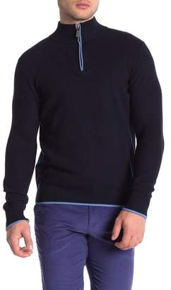Tailorbyrd Waffle Knit Quarter Zip Pullover