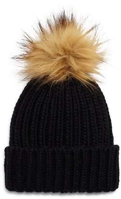 98ef6765b94 Kids Fur Pom Pom Hat - ShopStyle